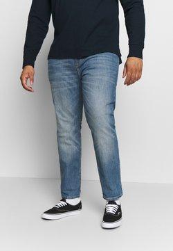 TOM TAILOR MEN PLUS - 5 POCKET  - Slim fit jeans - mid stone wash denim