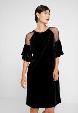 Apart - VELVET DRESS WITH VOLANTS - Cocktailkleid/festliches Kleid - black