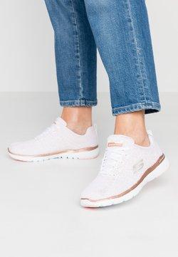 Skechers Sport - FLEX APPEAL 3.0 - Sneakers laag - white/rose gold