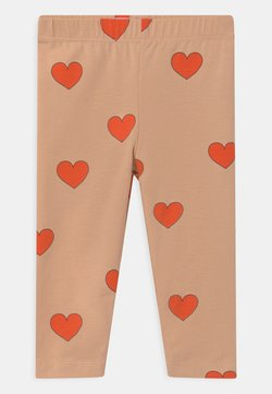 TINYCOTTONS - HEARTS - Legging - light nude/red