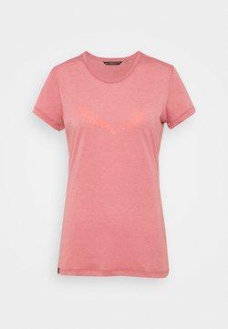 Salewa - SOLID DRY - T-Shirt print - mauvemood melange