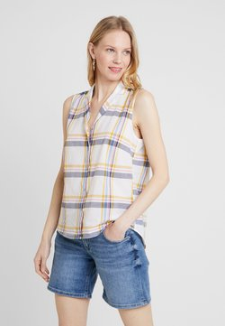 edc by Esprit - CHECK BLOUSE - Bluse - offwhite