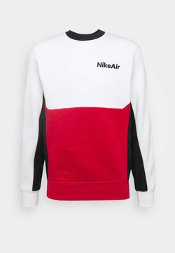 Nike Sportswear - AIR CREW - Sweatshirt - white/university red/black