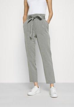 ONLY - ONLLONZO PAPERBAG BELT PANT - Pantalon classique - black