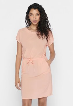 ONLY - ONLNOVA LUX CONNIE BALI DRESS SOLID - Vapaa-ajan mekko - tropical peach