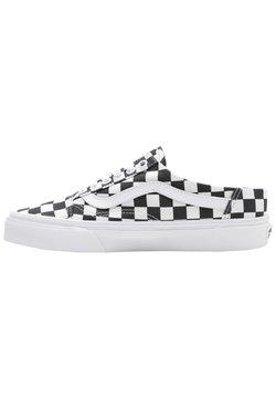 Vans - UA OLD SKOOL MULE - Sneakersy niskie - (checkerboard) black/true white
