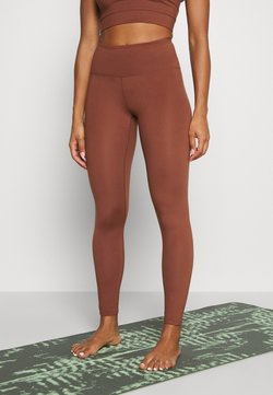 Monki - SPORT LEGGINGS - Tights - brown medium dusty