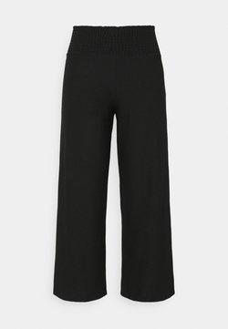 Pieces Curve - PCCURLI CROPPED PANTS CURVE - Bukse - black
