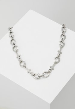 Icon Brand - CROSS AND LINKCHAINNECKLACE - Necklace - silver-coloured