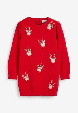 Next - CHRISTMAS REINDEER  - Strickkleid - red