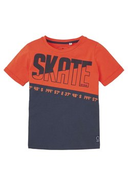 TOM TAILOR - MIT SCHRIFT-PRINT - T-shirt print - tangerine tango|orange