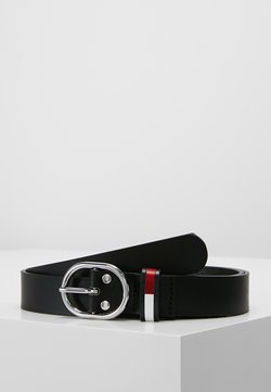 Tommy Jeans - FLAG INLAY BELT - Vyö - black