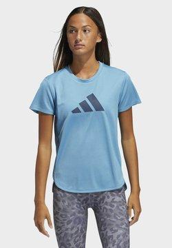 adidas Performance - 3 BAR - Camiseta estampada - blue