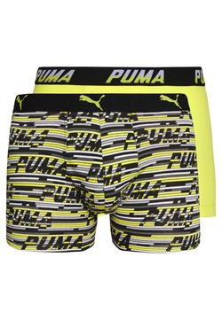 Puma - LOGO 2 PACK - Shorty - yellow/grey