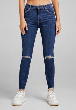 Bershka - Jeans Skinny Fit - royal blue