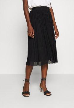 Anna Field - Plisse mesh mini skirt - A-linjainen hame - black