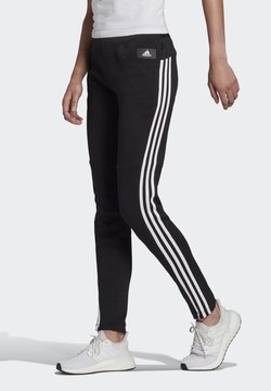adidas Performance - ADIDAS SPORTSWEAR 3-STRIPES SKINNY PANTS - Jogginghose - black/white