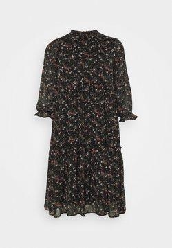 Vero Moda Curve - VMSYLVIA CALF DRESS - Freizeitkleid - black/rose flowers