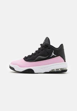 Jordan - MAX AURA 2 UNISEX - Basketball shoes - black/white/light arctic pink