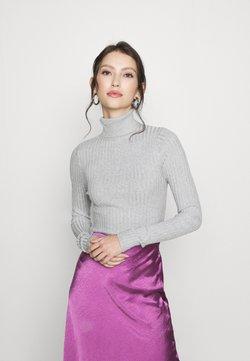 New Look - ROLL NECK JUMPER - Strickpullover - light grey