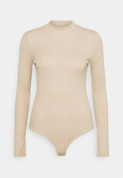 Vero Moda - VMMIA HIGHNECK BODY - Langarmshirt - beige