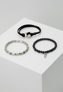 Icon Brand - WRISTWEAR WITH BEADED STRETCHES 3 PACK - Bracelet - black