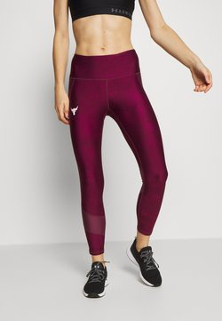 Under Armour - PROJECT ROCK ANKLE CROP - Tights - level purple