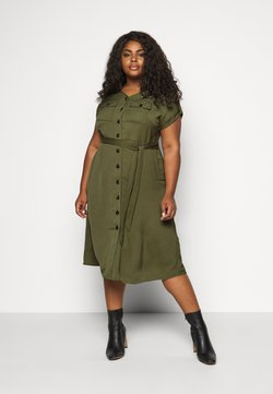 Dorothy Perkins Curve - SHIRT DRESS - Freizeitkleid - khaki