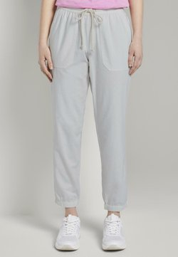 TOM TAILOR DENIM - RELAXED TRACKPANTS - Jogginghose - gardenia white