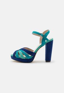 Menbur - Korkeakorkoiset sandaalit - dazzling blue