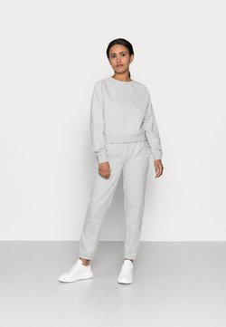 ONLY Petite - ONLZOEY LIFE SET - Langarmshirt - light grey melange