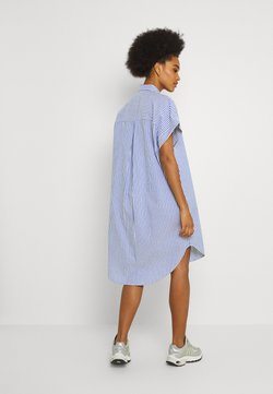 Monki - WANNA DRESS - Blousejurk - blue bright summer stripe