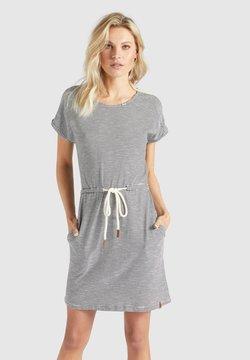 khujo - ANNEMARIE - Jerseykleid - schwarz-weiß gestreift