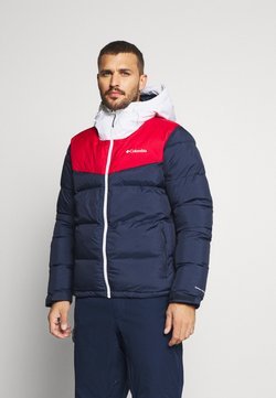 Columbia - ICELINE RIDGE JACKET - Veste de ski - collegiate navy/mountain red/white