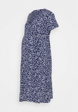 Cotton On - BUTTON FRONT MIDI DRESS - Blusenkleid - medieval blue