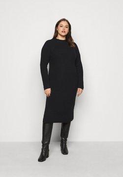 Pieces Curve - PCDISA MOCK NECK DRESS CURVE - Strickkleid - black
