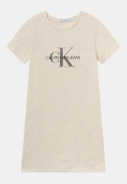 Calvin Klein Jeans - REPTILE MONOGRAM DRESS - Jerseykleid - white heather