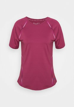 Under Armour - RUSH SCALLOP  - T-Shirt print - pink quartz