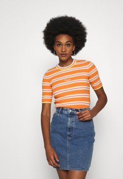 Tommy Jeans - STRIPE SLEEVE - T-Shirt print - rustic orange/multi