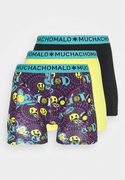MUCHACHOMALO - ACIDD 3 PACK - Shorty - yellow/black