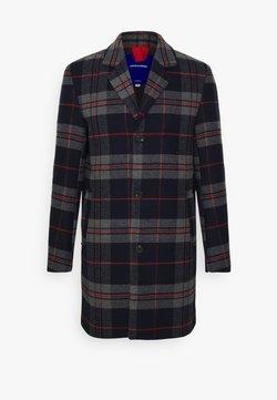 Jack & Jones - JORBLINDERS CHECKED COAT - Wollmantel/klassischer Mantel - navy blazer