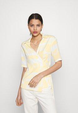 Glamorous - STUDIO WRAP OVER KIMONO WITH TIE DETAIL - Bluser - soft yellow