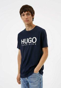 HUGO - DOLIVE - Printtipaita - dark blue