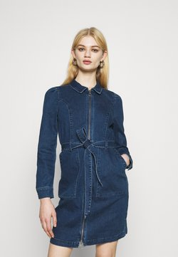 ONLY - ONLNEW CHIGO DRESS - Denim dress - medium blue denim