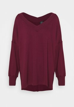 Nike Performance - YOGA COVER UP - Sudadera - night maroon/dark beetroot