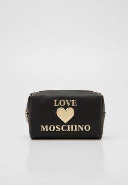 Love Moschino - BUSTINA - Toiletti-/meikkilaukku - black