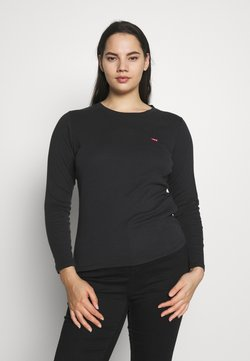 Levi's® Plus - BABY TEE - Langarmshirt - black solid