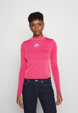 Nike Sportswear - AIR MOCK - Langarmshirt - fireberry/bright mango/white