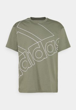 adidas Performance - Camiseta estampada - legacy green/white