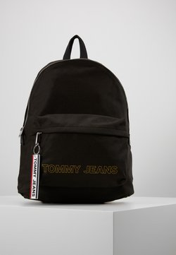Tommy Jeans - LOGO TAPE DOME BACKPACK - Reppu - black